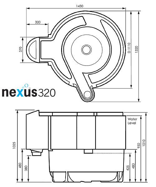 Evolution aqua nexus eazy 220 320 filters water for Nexus pond filter setup