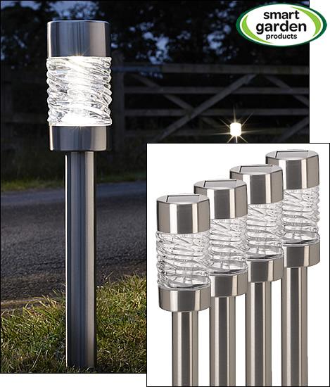 Martello Solar Post Lights 4 Pack Water Gardening Direct
