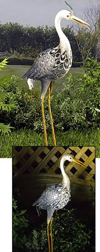 Smart Garden Solar Heron Bird Silhouette Light Garden Light Figure Ornament