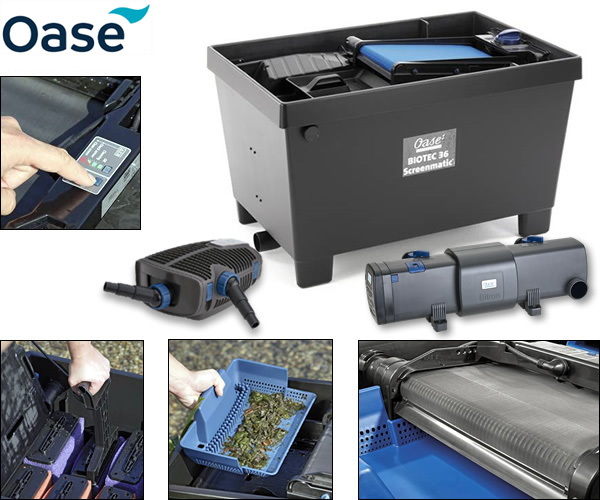 Oase biotec 140000 screenmatic 2 full kits water for Combined pond pump and uv filter