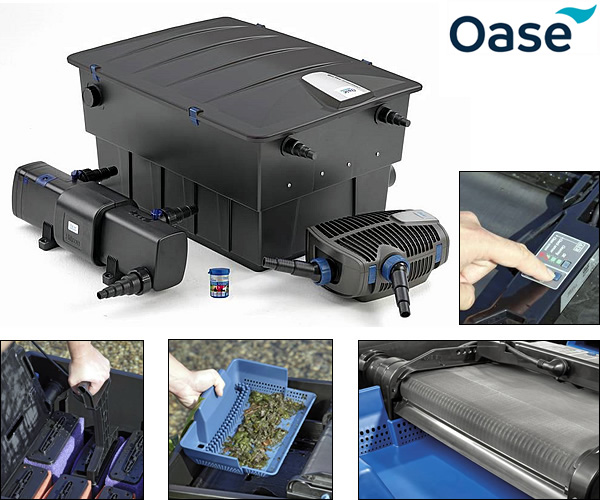 Oase biotec 40000 screenmatic 2 full kits water for Combined pond pump and uv filter