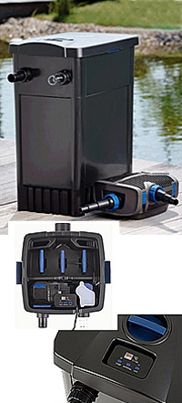 Oase filtomatic 14000 cws combined filter sets water for Combined pond pump and uv filter