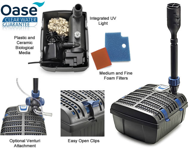 Oase Filtral UVC 6000 UVC with FREE Fountain Kit Underwater Pond Filter Pump New!