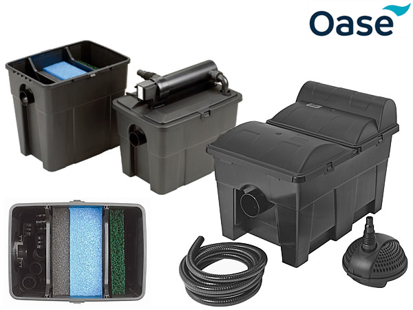 Pontec multiclear 5000 pond filter sets water gardening for Combined pond pump and uv filter